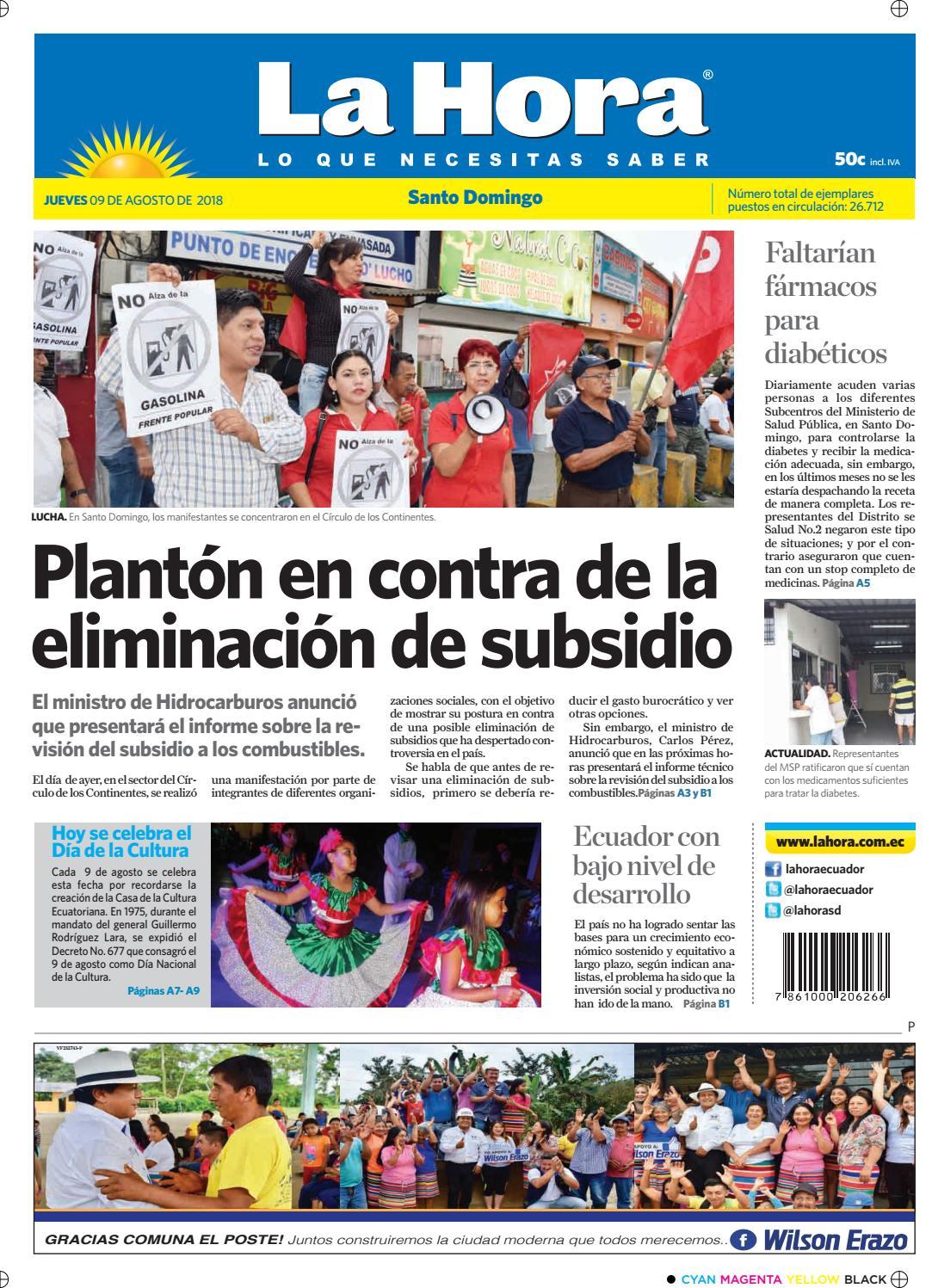 1ef75815 Santo Domingo 09 de agosto de 2018 by Diario La Hora Ecuador - issuu