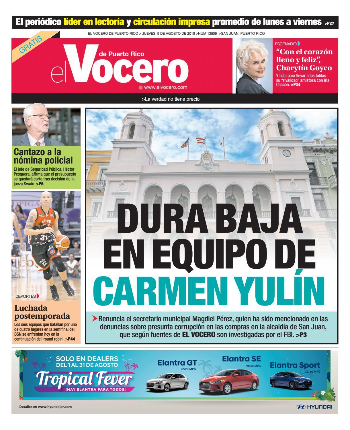 Edición del 9 de agosto de 2018 by El Vocero de Puerto Rico - issuu 8992f946a3324