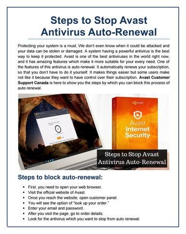 cancel avast internet security