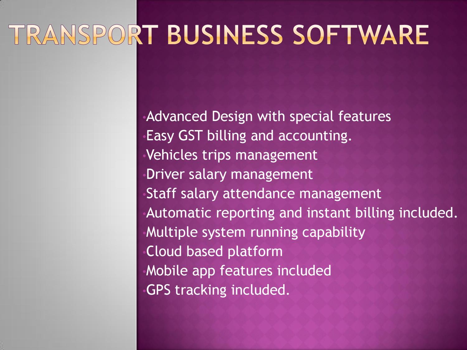 Online Transport Software|Cheap Transport Software by