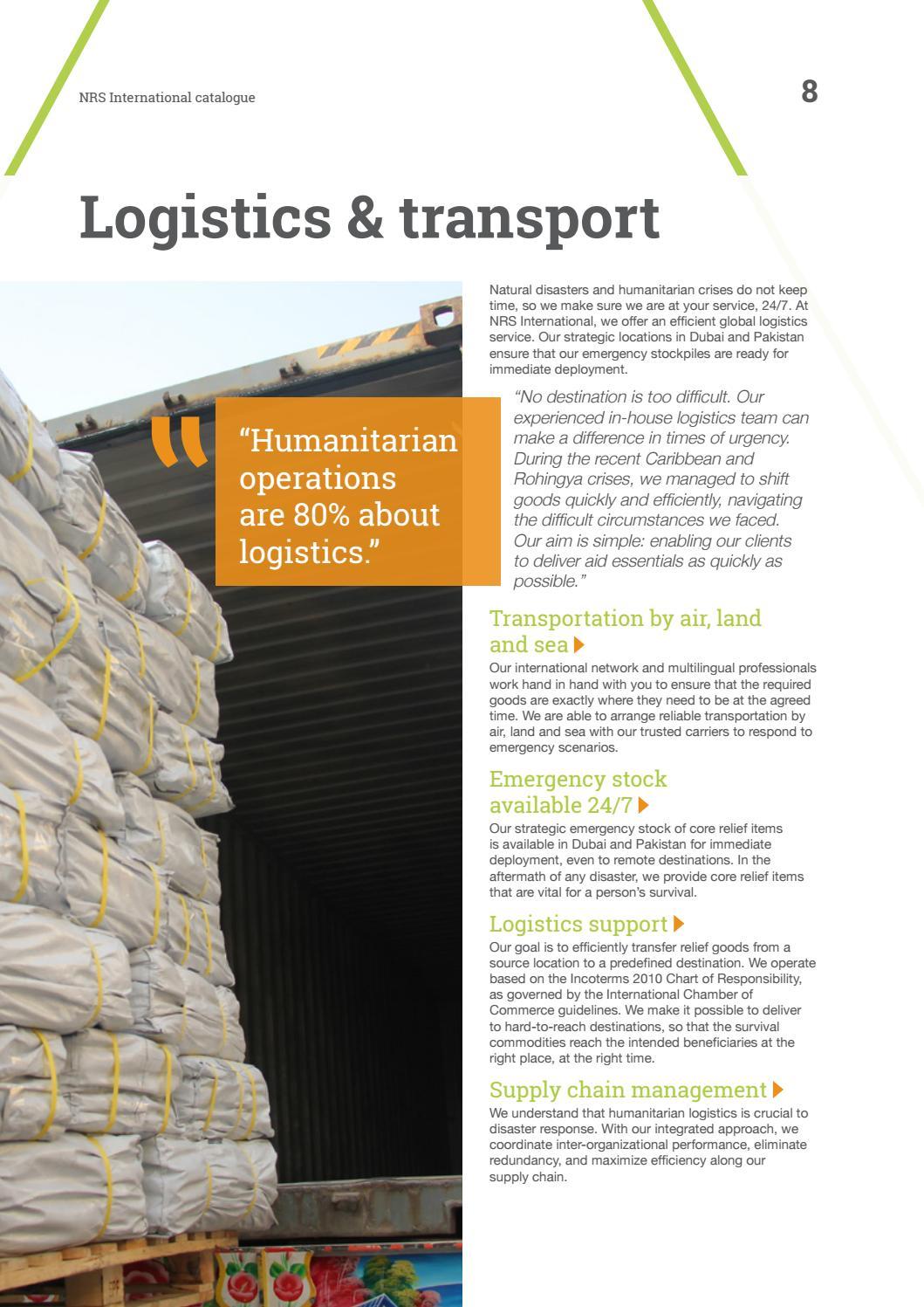 NRS International Integrated Catalogue 2018