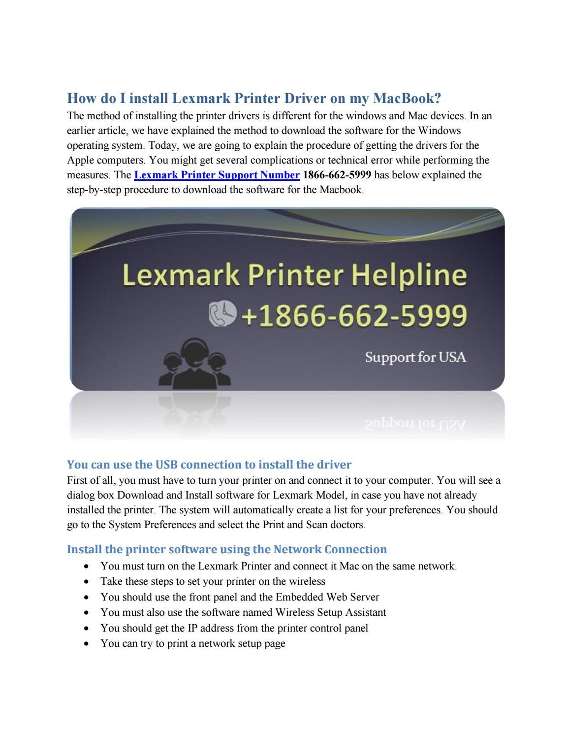 How do I install Lexmark Printer Driver on my MacBook? by
