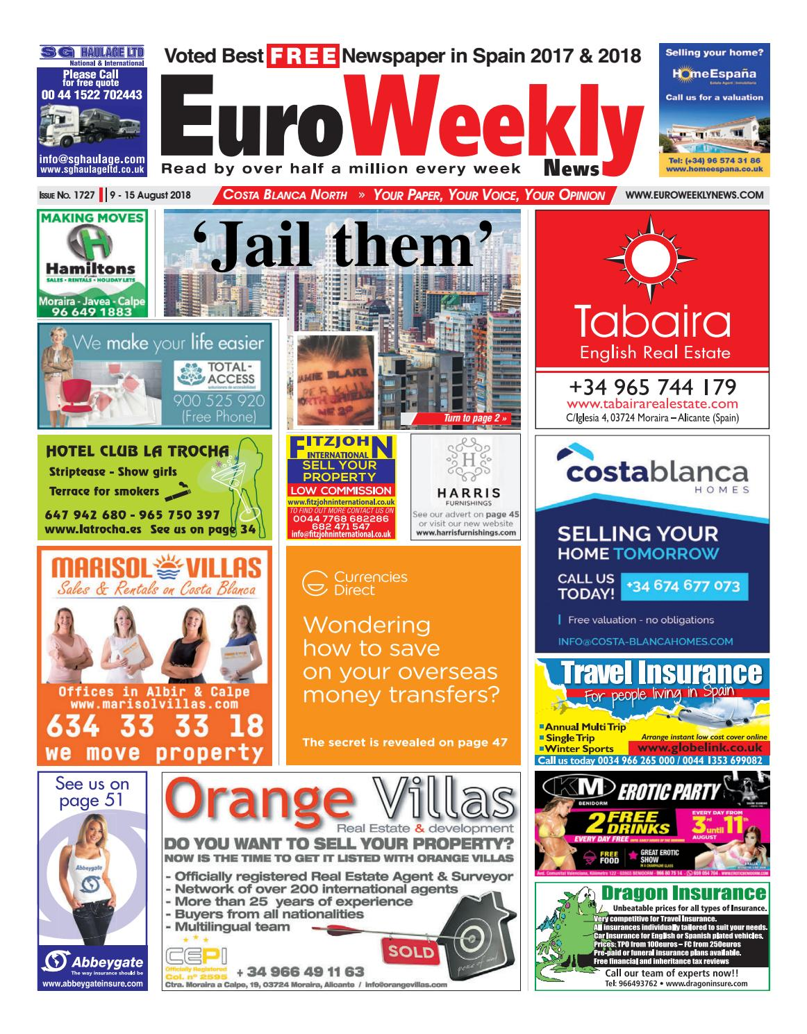 Euro Weekly News Costa Blanca North 9 15 August 2018 Issue 1727 Haywire Pro T Wiring System By Media Sa Issuu