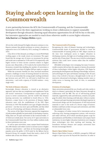 Page 22 of Staying ahead: open learning in the Commonwealth