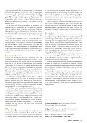 Page 23 of Staying ahead: open learning in the Commonwealth