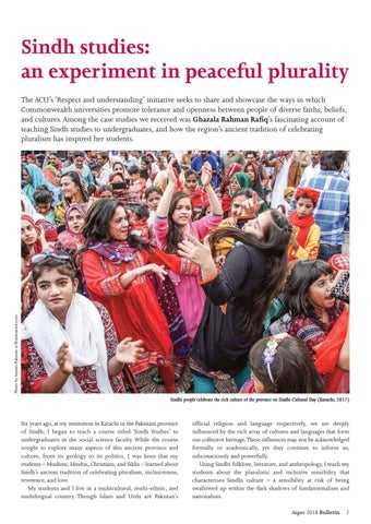 Page 7 of Sindh studies: an experiment in peaceful plurality