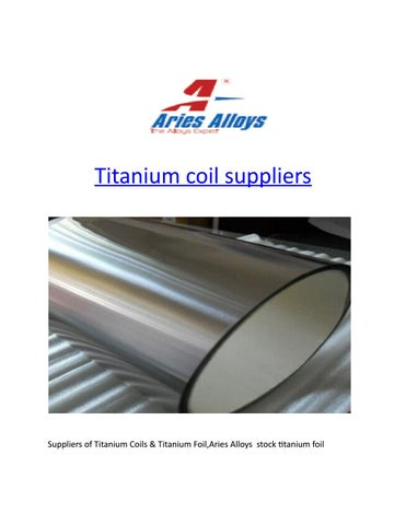 Titanium coil suppliers