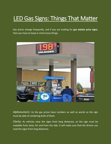 LED Gas Signs- Things That Matter by mtaylor0083 - issuu