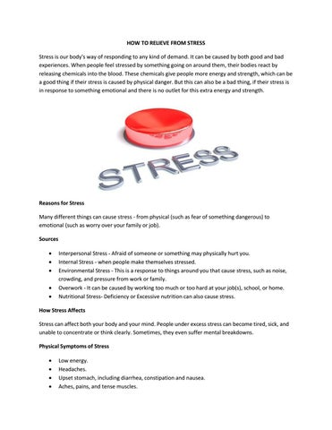 How To Relieve From Stress | Koncept Hospitals by Monish Raj