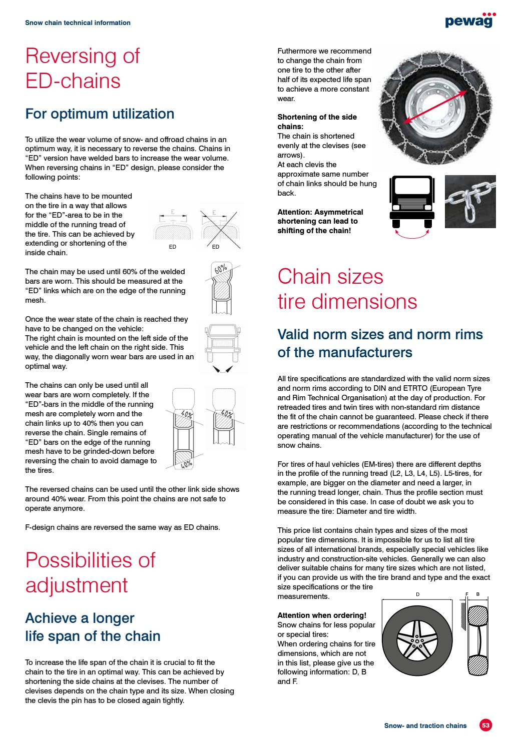 Snow- and traction chains - catalog by pewag - issuu