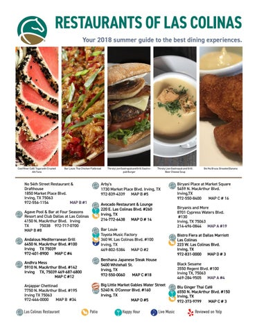 Las Colinas Restaurant Guide Summer 2018 By Las Colinas