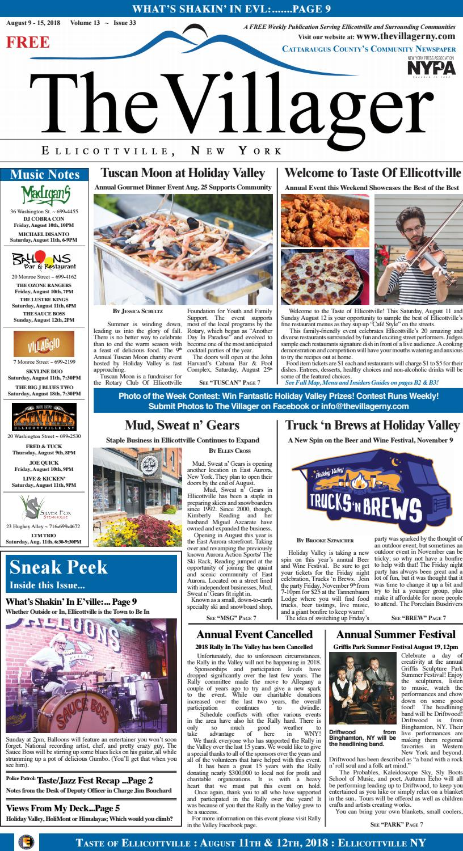The Villager_Ellicottville_August 9 - 15, 2018 Volume 13