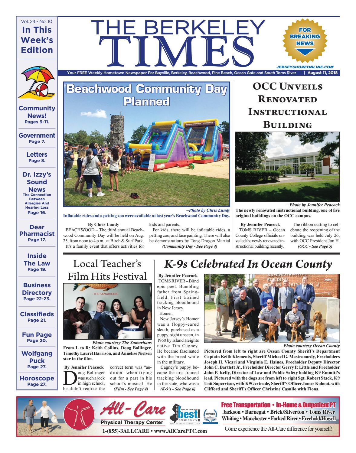 2018-08-11 - The Berkeley Times by Micromedia Publications