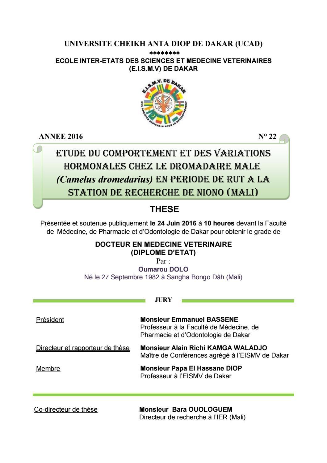 Inter Médecine Ecole Etats Des Dolo Et Sciences Oumarou By Lj453AR