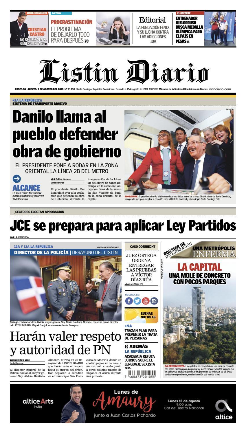 LD 09-08-2018 by Listín Diario - issuu