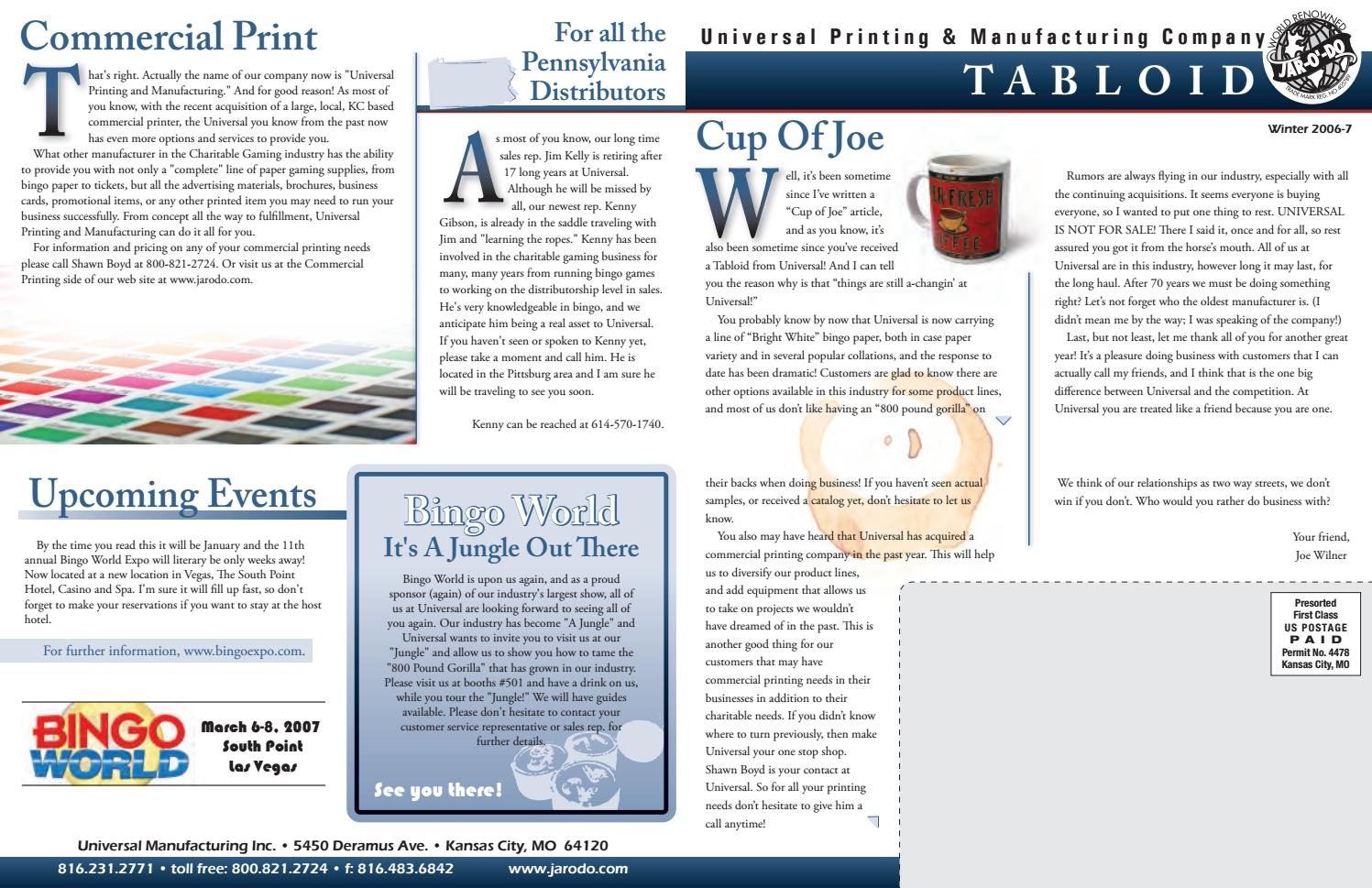 Tabloid Print For Newsletter By Angelina Oconnor Issuu