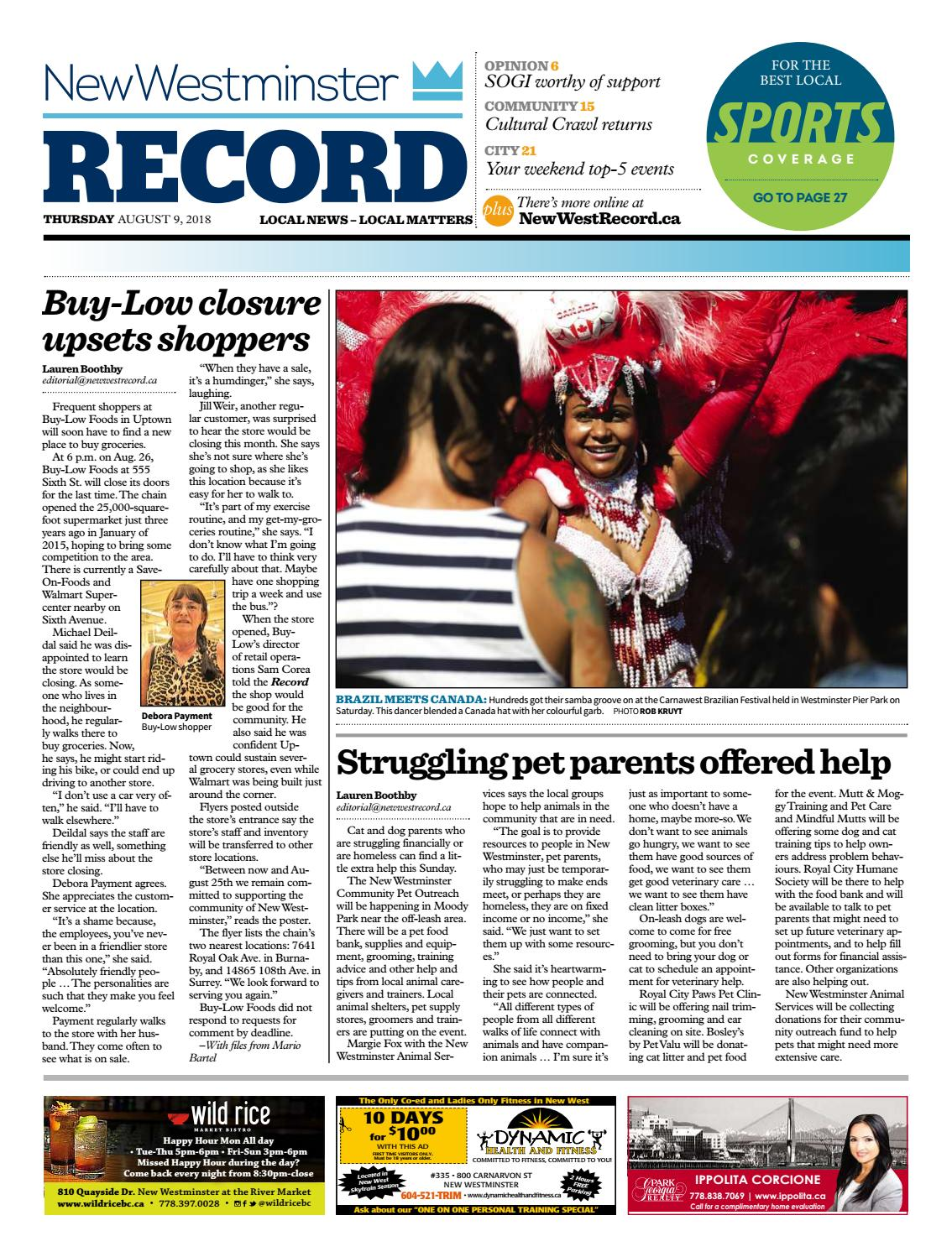 New Westminster Record August 9 2018 by Royal-City-Record - issuu