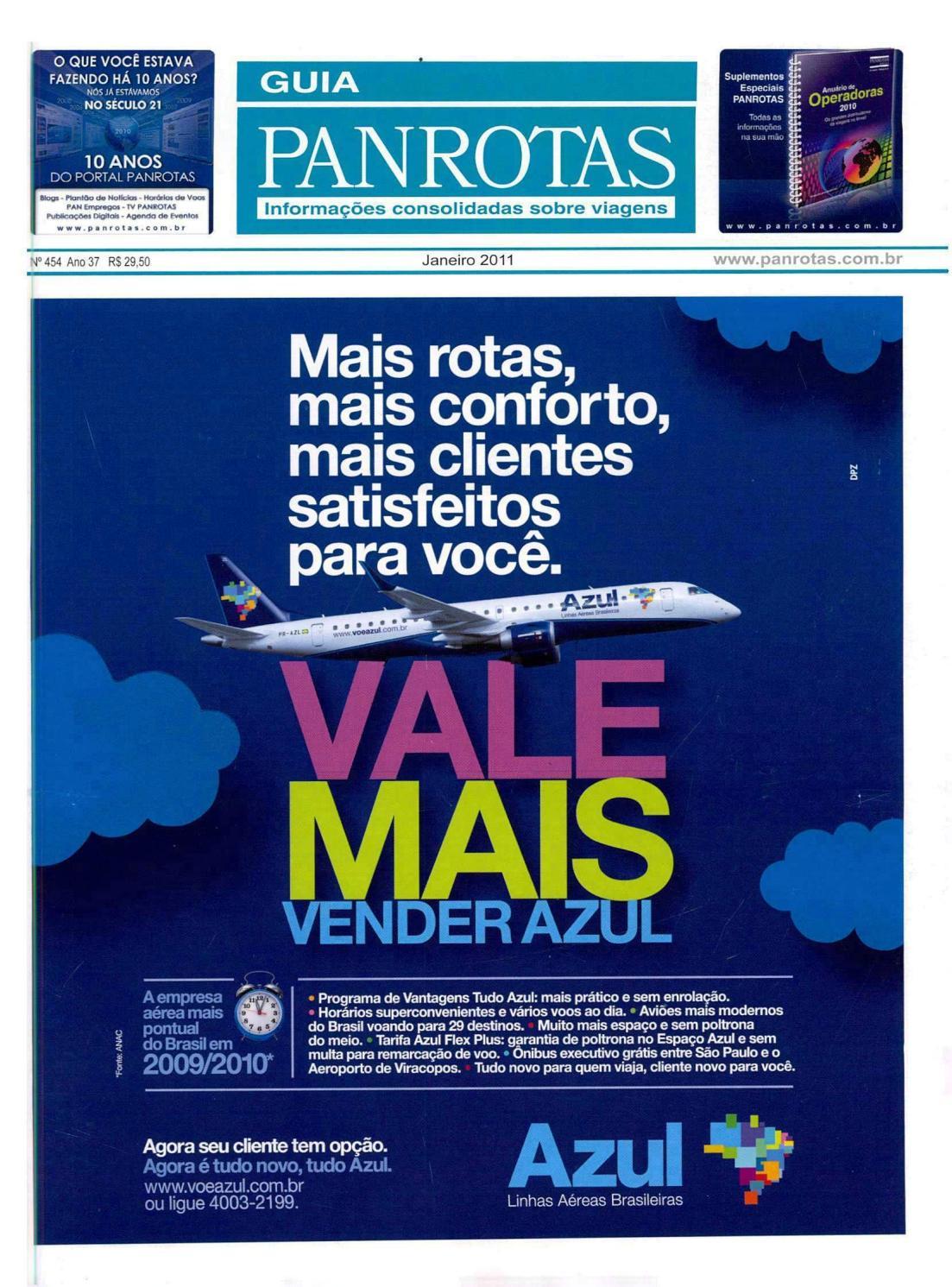 84a9ddc381 Guia PANROTAS - Edição 454 - Janeiro 2011 by PANROTAS Editora - issuu