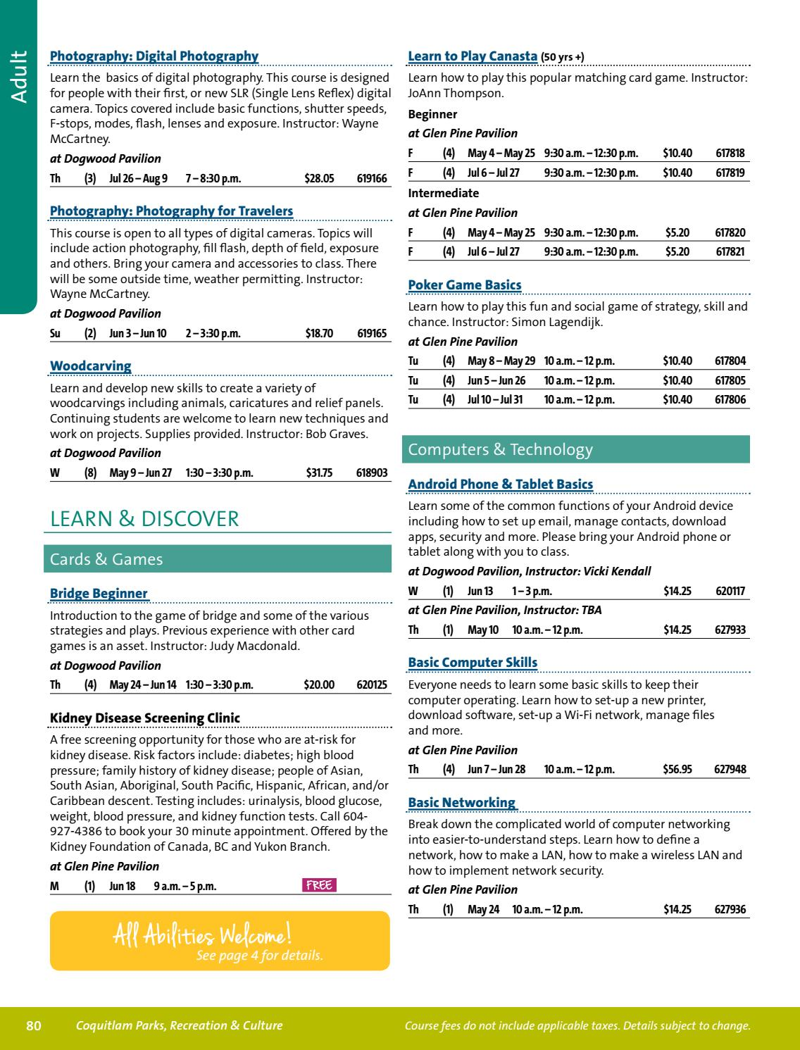 2018 Coquitlam Program Guide Spring/Summer by City of