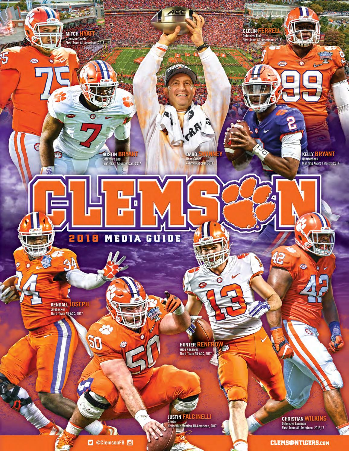 2018 Clemson Football Media Guide By Clemson Tigers Issuu