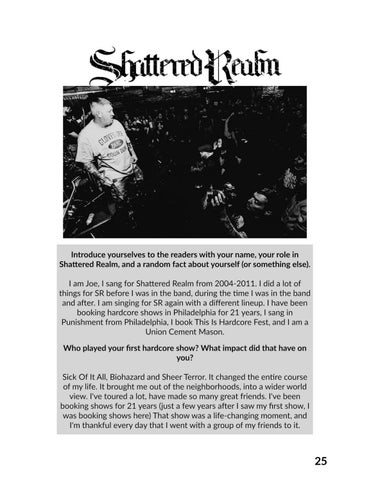 Page 25 of Interview with Joe Hardcore (Shattered Realm, TIHC)