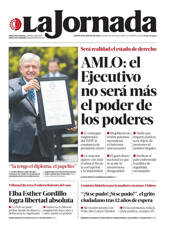 90d7ebff4 La Jornada, 08/09/2018 by La Jornada - issuu