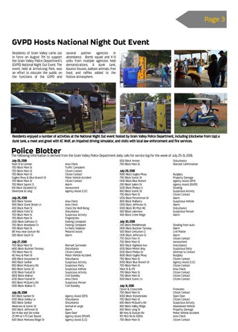Page 3 of GVPD Hosts National Night Out Event