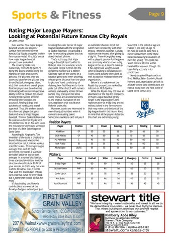 Page 9 of Rating Major League Players: Looking at Potential Future KC Royals