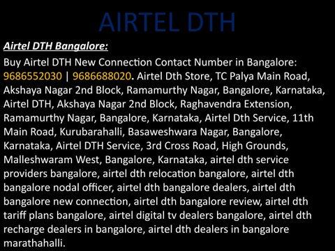 Airtel DTH in Bangalore mahadevapura : 9686552030