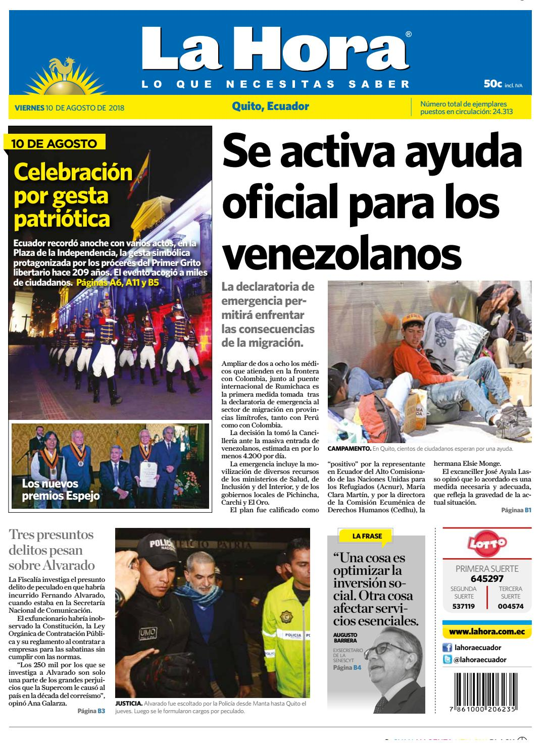 4eea5f7e3e8 Quito 10 de agosto de 2018 by Diario La Hora Ecuador - issuu