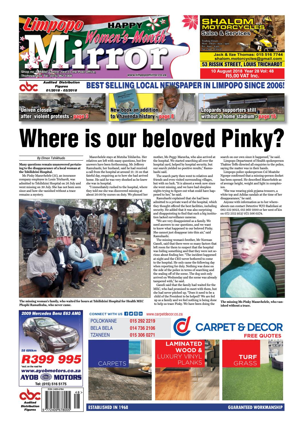 10 August 2018 Limpopo Mirror By Zoutnet Issuu