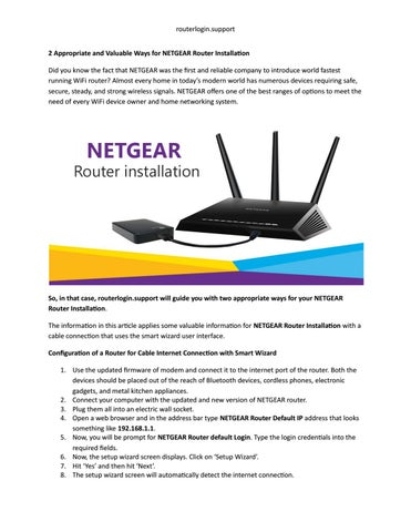 Appropriate and Valuable Ways for NETGEAR Router Installation by
