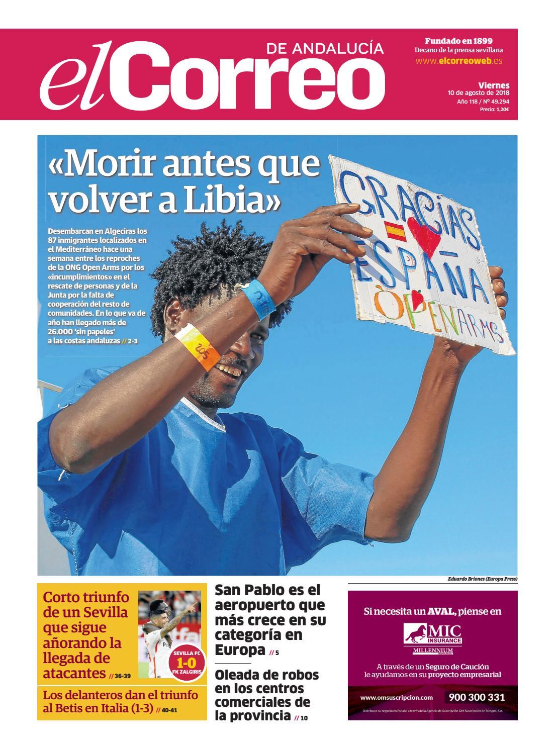 7249ba29d7528 10.08.2018 El Correo de Andalucía by EL CORREO DE ANDALUCÍA S.L. - issuu