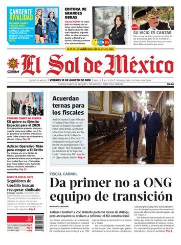 El Sol de México 10 de agosto 2018 by El Sol de México - issuu bc29fd23a85d