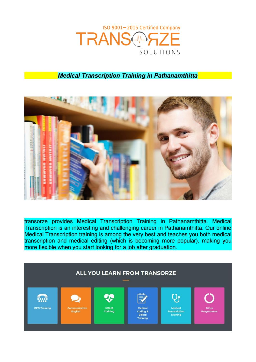 Medical Transcription Training In Pathanamthitta By Smithlopan8 Issuu