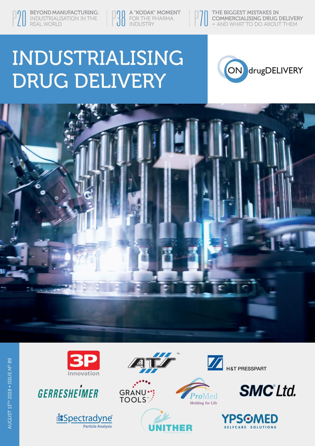 Industrialising Drug Delivery - ONdrugDelivery - Issue 89 - August