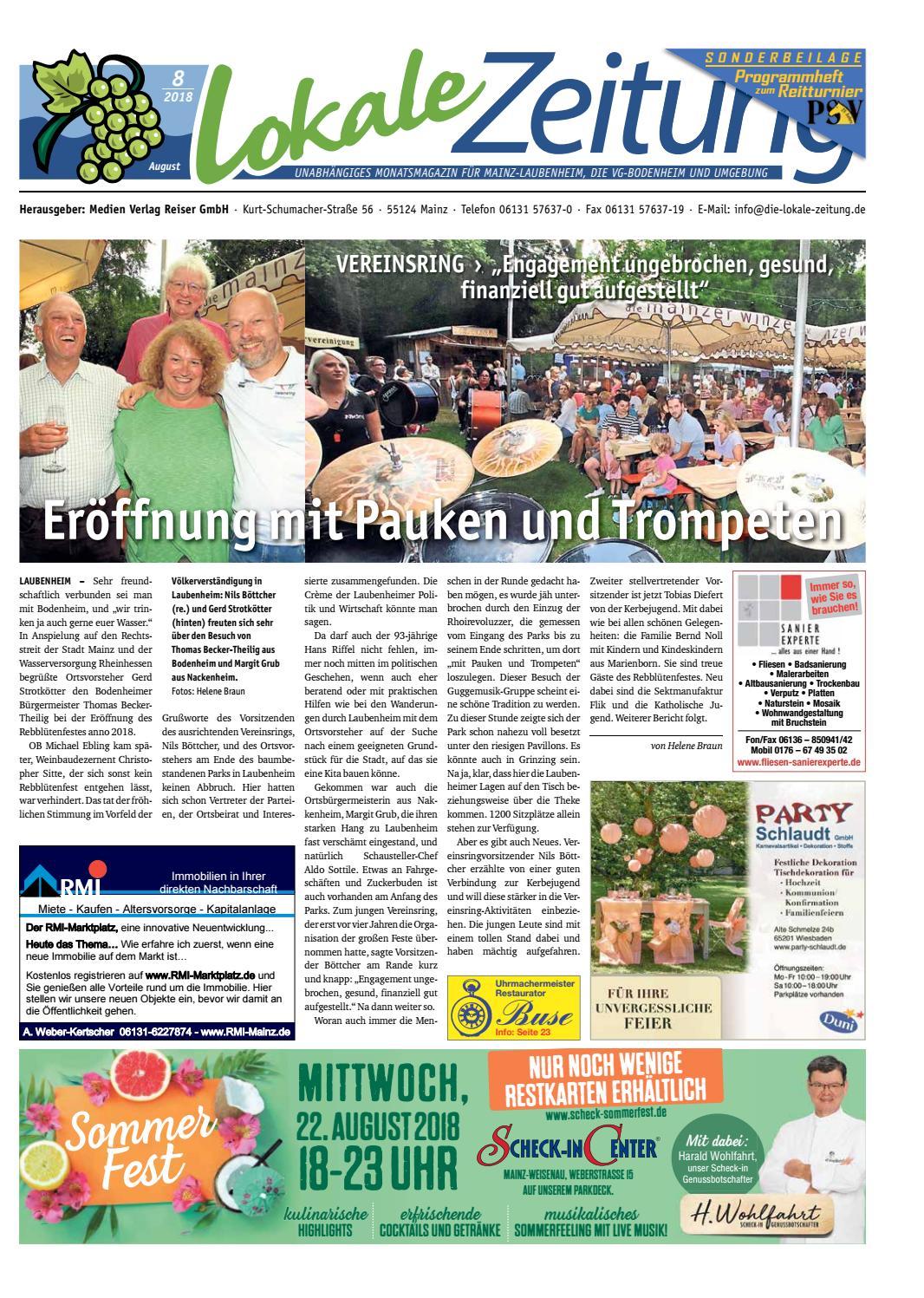 Lokale Zeitung Laubenheim VG Bodenheim August 2018 by David Weiß - issuu