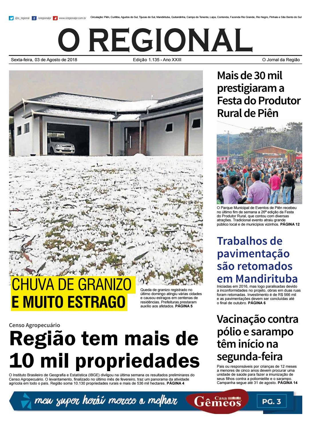 1f1ff96589 Ed. 1.135 O Regional by O Regional PR - issuu