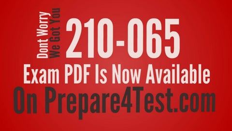 Page 2 of 210-065 PDF - The Ultimate Secret Of 210-065 Exam Dumps