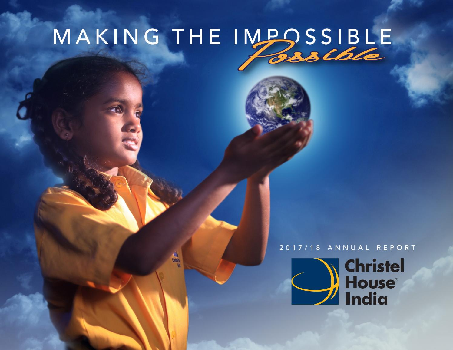 Christel House India 2018-2019 Annual Report by Christel