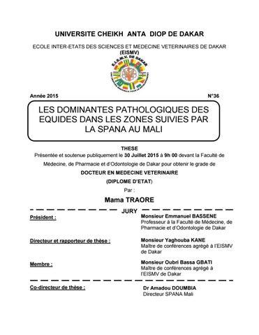 Mama TRAORE by Ecole Inter-Etats des Sciences et Médecine ... e42641075ee