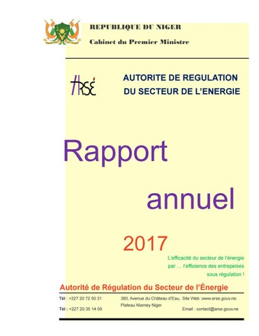 Rapport De Mission 2017 Arse By Chefou Issuu