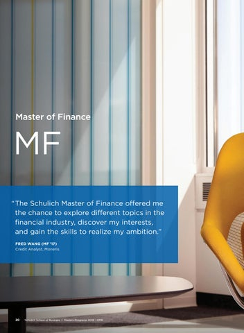 Page 22 of Schulich Master of Finance
