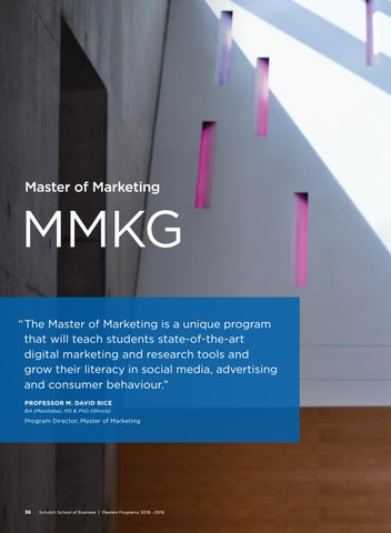 Page 38 of Schulich Master of Marketing