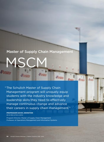 Page 52 of Schulich Master of Supply Chain Management