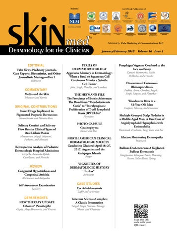 SKINmed - Jan/Feb, 2018 by jo-ann kalaka-Adams - issuu