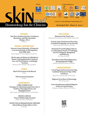 SKINmed -Mar/Apr, 2018 by jo-ann kalaka-Adams - issuu