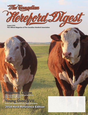 Canadian Hereford Digest August 2018 By Canadian Hereford