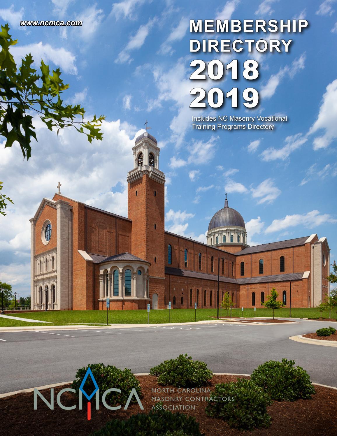 NCMCA 2018-2019 MEMBERSHIP DIRECTORY by Brandon Hartsell - issuu
