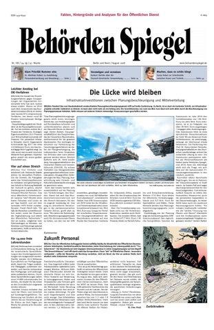 Behörden Spiegel August 2018 by propress - issuu
